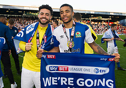 Dominic Samuel of Blackburn Rovers Derrick Williams of Blackburn Rovers Free to use courtesy of Sky Bet - Mandatory by-line: Alex James/JMP - 05/05/2018 - FOOTBALL - Ewood Park - Blackburn, England - Blackburn Rovers v Oxford United - Sky Bet League One