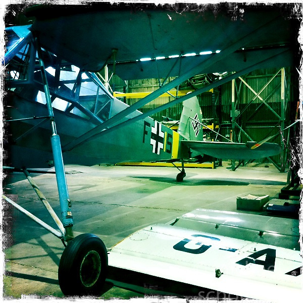 A Morane Saulnier MS 505a Criquet  aircraft at The National Museum of Flight, Scotland's national aviation museum at East Fortune Airfield, south of the village of East Fortune, in East Lothian..Hipstamatic images taken on an Apple iPhone..©Michael Schofield.
