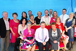Taoiseach Enda Kenny was in Claremorris on Friday as the town turned pink . He's pictured amoung 8 Women who have come through cancer and whom on the day took part in a 'makeover' with stylist Maureen O'Halloran. The 'Turn Claremorris Pink' initiative brought Claremorris Chamber of Commerce ,Tescos and local businesses out in force to raise money for Irish Cancer Society's 'Care to Drive' project...Pic Conor McKeown.