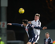 Dundee&rsquo;s Mark O&rsquo;Hara heads clear from Ross County's Tim Chow - Ross County v Dundee in the Ladbrokes Scottish Premiership at The Global Energy Stadium, Dingwall, Photo: David Young<br /> <br />  - &copy; David Young - www.davidyoungphoto.co.uk - email: davidyoungphoto@gmail.com