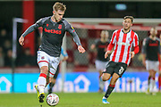 Stoke City defender Liam Lindsay (5) during the The FA Cup match between Brentford and Stoke City at Griffin Park, London, England on 4 January 2020.