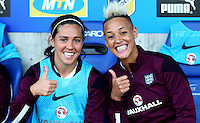 Fifa Womans World Cup Canada 2015 - Preview //<br /> Cyprus Cup 2015 Tournament ( Gsp Stadium Nicosia - Cyprus ) - <br /> Netherlands vs England 1-1   //   Fara Williams (L) and Lianne Sanderson of England (R)