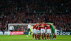 [DK=06-09-2011: EURO 2012 Kval. Danmark vs. Norge -  Danmark samlet før kamp i Parken..© Lars Rønbøg / Sportsagency ].[UK=06-09-2011: EURO 2012 Qual. Denmark vs. Norway - Denmark..© Lars Ronbog / Sportsagency ].
