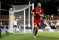 Aaron Wilbraham of Bristol City celebrates scoring an equalising goal against Fulham to make it 1-1 - Mandatory by-line: Robbie Stephenson/JMP - 21/09/2016 - FOOTBALL - Craven Cottage - Fulham, England - Fulham v Bristol City - EFL Cup