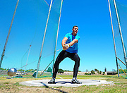 CAPE TOWN, SOUTH AFRICA - Saturday 27 February 2016, Marnickus van der Merwe in the Boys U20 Hammer Throw (49.36m) during the Western Province Athletics League Track and Field athletic meeting at the Parow Athletics Stadium. <br /> Photo by Roger Sedres/ImageSA