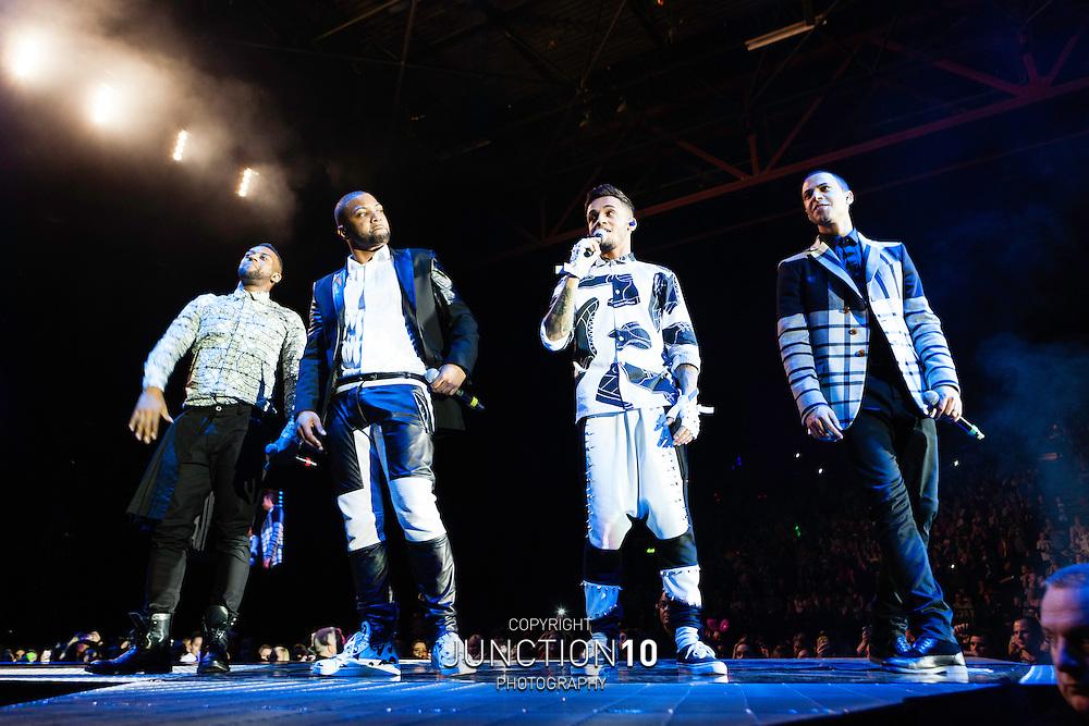 JLS in concert at the LG Arena, Birmingham, United Kingdom<br /> Picture Date: 11 December, 2013
