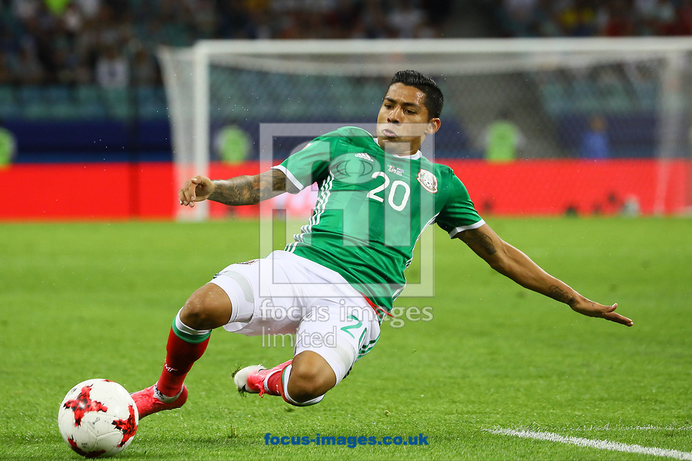 Javier Aquino of Mexico during the 2017 FIFA Confederations Cup match at Fisht Stadium, Sochi<br /> Picture by EXPA Pictures/Focus Images Ltd 07814482222<br /> 22/06/2017<br /> *** UK &amp; IRELAND ONLY ***<br /> <br /> EXPA-EIB-170622-0053.jpg