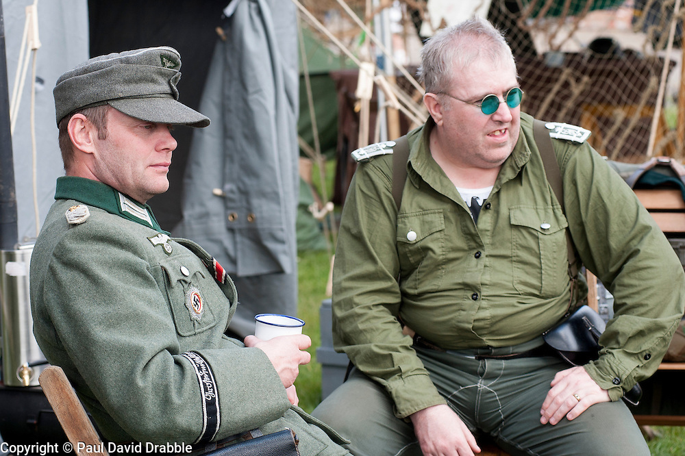 Reenactors of the NWW2A Portraying a Panzer Grenadiers from the Großdeutschland Division at Fort Paull on Sunday ..5 May 2013.Image © Paul David Drabble