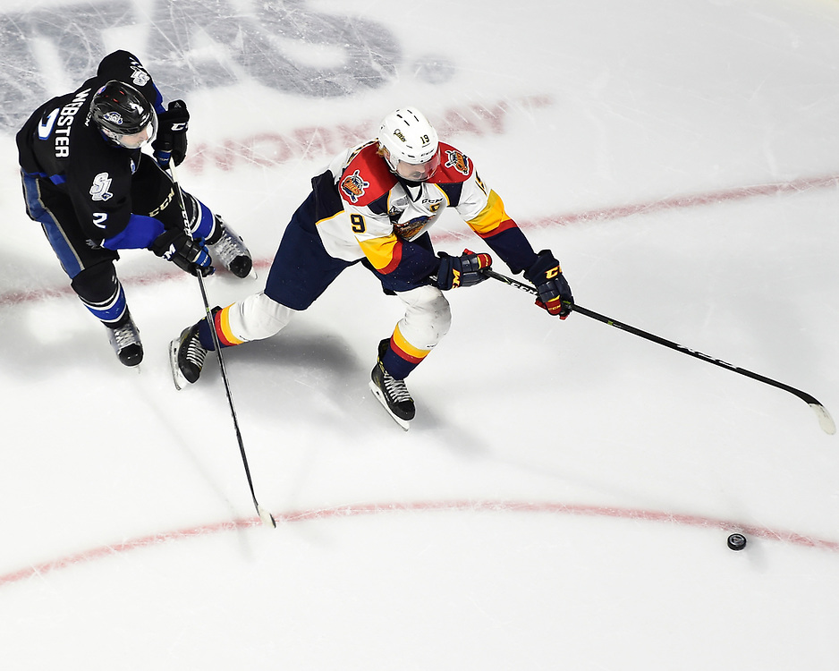 Dylan Strome of the Erie Otters in Game 4 of the 2017 MasterCard Memorial Cup against the Saint John Sea Dogs on Monday May 22, 2017 at the WFCU Centre in Windsor, ON. Photo by Aaron Bell/CHL Images