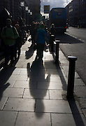 Shadows on Dame St., Dublin