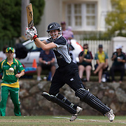 Amy Satterthwaite batting during the South Africa  V New Zealand group A match at Bradman Oval in the ICC Women's World Cup Cricket Tournament, in Bowral, Australia on March 12, 2009. New Zealand won the match by 199 runs. Photo Tim Clayton
