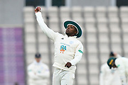 Fidel Edwards of Hampshire during the Specsavers County Champ Div 1 match between Hampshire County Cricket Club and Worcestershire County Cricket Club at the Ageas Bowl, Southampton, United Kingdom on 13 April 2018. Picture by Graham Hunt.