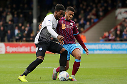 Jermaine Anderson of Peterborough United battles for the ball with Funso Ojo of Scunthorpe United - Mandatory by-line: Joe Dent/JMP - 21/10/2017 - FOOTBALL - Glanford Park - Scunthorpe, England - Scunthorpe United v Peterborough United - Sky Bet League One