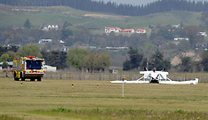Napier-Light plane flips on landing