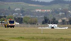 Napier-Light plane flips on landing