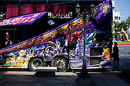 Bus with decorated with manga drawings in Bangkok, Thailand. PHOTO TIAGO MIRANDA