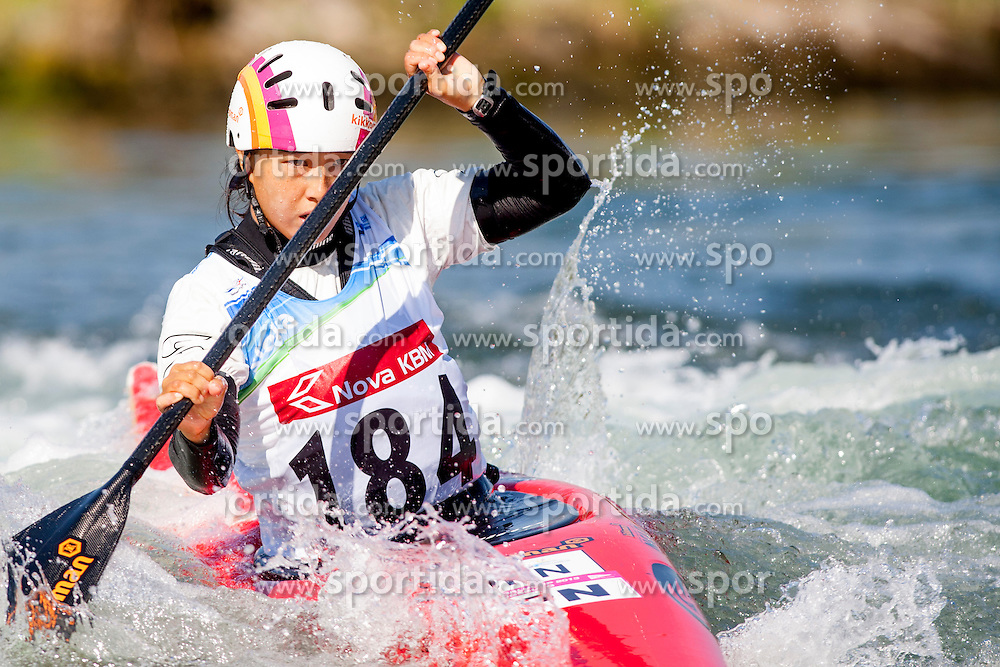 Yuriko Takeshita of Japan during Kayak(K1) Women semi-final race at ICF Canoe Slalom World Cup Sloka 2013, on August 18, 2013, in Tacen, Ljubljana, Slovenia. (Photo by Urban Urbanc / Sportida.com)