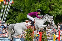 DINIZ Luciana (POR), Vertigo du Desert<br /> Hamburg - 90. Deutsches Spring- und Dressur Derby 2019<br /> LONGINES GLOBAL CHAMPIONS TOUR Grand Prix of Hamburg<br /> CSI5* Springprüfung mit Stechen <br /> Wertungsprüfung für die LGCT, 6. Etappe<br /> 01. Juni 2019<br /> © www.sportfotos-lafrentz.de/Stefan Lafrentz