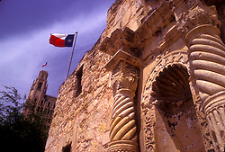 Close up architecture on the Alamo in San Antonio, Texas