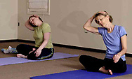 Tory Klepacz, from Miami Township (left) and Sarah Fulton, from Beavercreek during a yoga class at The Studio, in Beavercreek, Thursday, March 22nd.