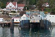Orcas Island Terminal for Washington State Ferries, Harney Channel, San Juan Islands, Washington, USA