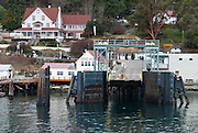 Orcas Island Terminal for Washington State Ferries, Harney Channel, San Juan Islands, Washington, USA