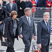 NLD/Amsterdam/20150504 - Dodenherdenking 2015 Amsterdam, aankomst leden van de regering, .............