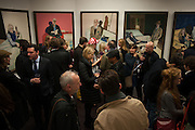 HENRY HUDSON PAINTINGS, Hominidae- Henry Hudson private view. TJ Boulting. Riding House St. London. 20 November 2012.