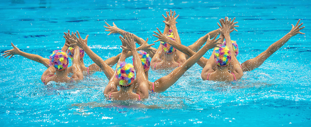 Canada Team.Team Final .London 2012 Olympics - Olimpiadi Londra 2012.day 15 Aug.10 Synchronized Swimming.Photo G.Scala/Deepbluemedia.eu/Insidefoto