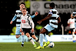 Matej Vydra of Derby County passes the ball - Mandatory by-line: Robbie Stephenson/JMP - 31/03/2017 - FOOTBALL - iPro Stadium - Derby, England - Derby County v Queens Park Rangers - Sky Bet Championship