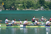 Aiguebelette, FRANCE  Bronze medallist, GBR M8+ left to right, Scott DURANT, Alan SINCLAIR, Nathaniel REILLY-O'DONNELL, Matt LANGRIDGE, Peter REED and James FOAD at the 2014 FISA World Cup II. 14:23:40  Sunday  22/06/2014. [Mandatory Credit; Peter Spurrier/Intersport-images]
