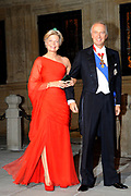 Gala dinner on the occasion of the civil wedding of Grand Duke Guillaume and Princess Stephanie at the Grand-Ducal palace in Luxembourg <br /> <br /> On the photo: Archduke Christian et l'Archduchess Marie-Astrid of Austria