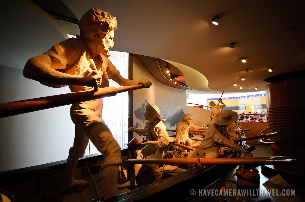 A nautical explorer exhibit at the Australian National Maritime Museum in Sydney, Australia