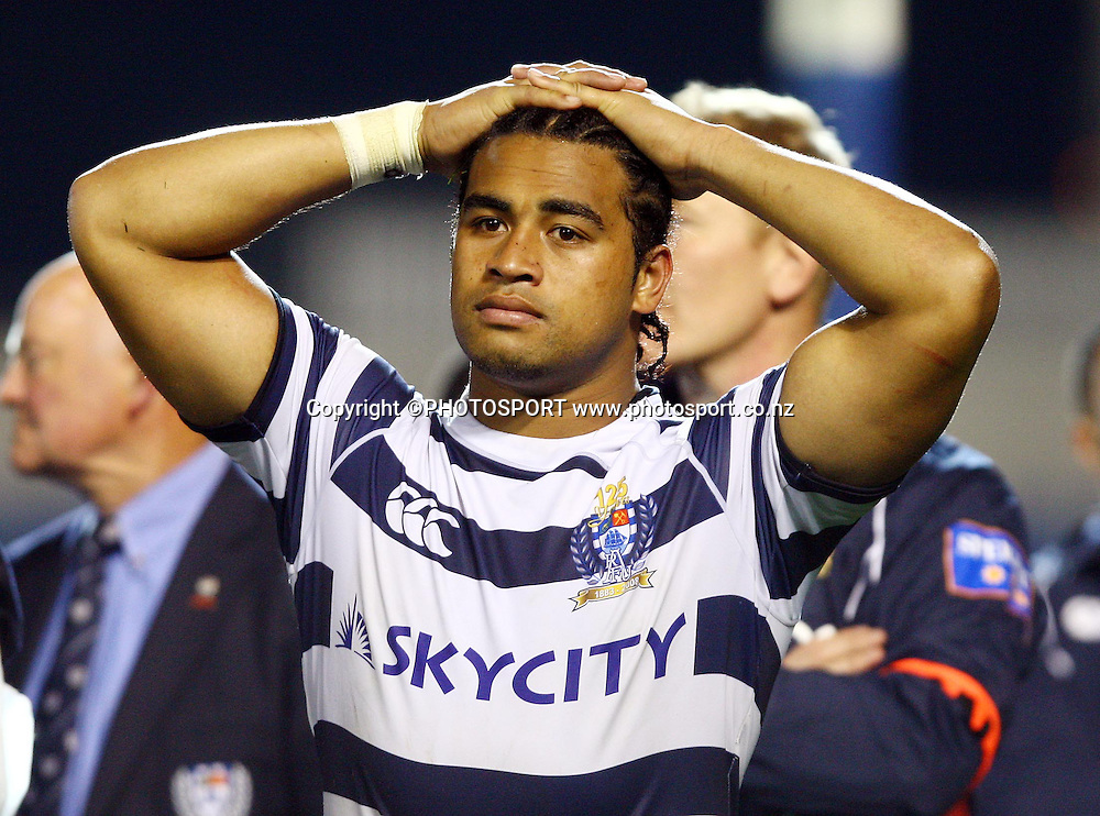 Dejected Auckland halfback Taniela Moa.<br />