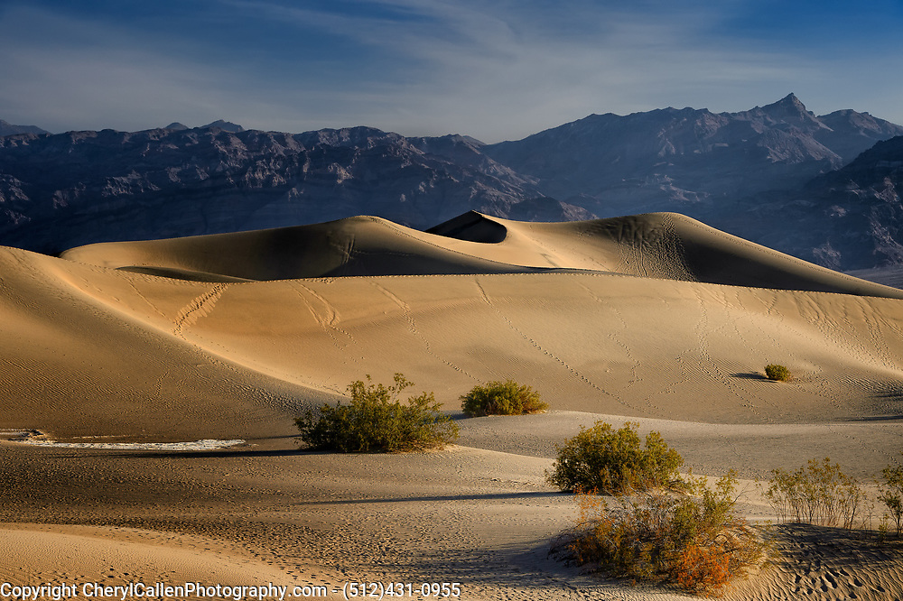 Mesquite Flat Dunes - Death Valley as the sun was going down