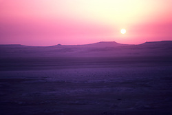 Saudi Arabia desert sunrise on the Qatar border.