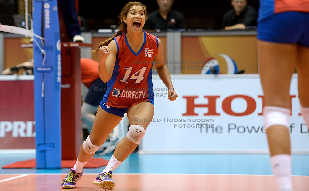 09-08-2014 NED: FIVB Grand Prix Puerto Rico - Polen, Doetinchem<br /> Natalia Valentin