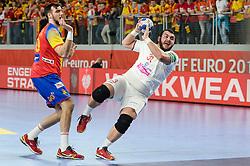 Peshevski of Macedonia during handball match between National teams of Macedonia and Spain on Day 4 in Main Round of Men's EHF EURO 2018, on January 21, 2018 in Arena Varazdin, Varazdin, Croatia. Photo by Mario Horvat / Sportida