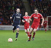 Dundee's Gary Harkins and Aberdeen's Andrew Considine -  Aberdeen v Dundee, SPFL Premiership at Pittodrie<br /> <br /> <br />  - &copy; David Young - www.davidyoungphoto.co.uk - email: davidyoungphoto@gmail.com