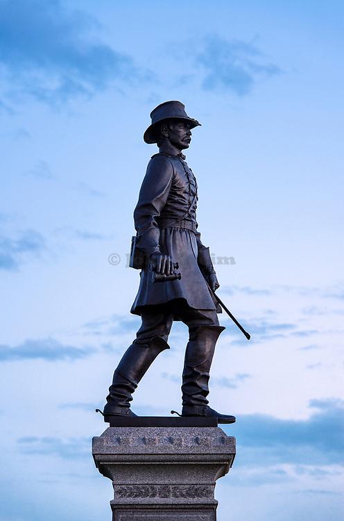 Brigadier General .John Gibbon monument, Gettysburg National Military Park, Pennsylvania, USA
