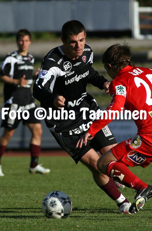 25.05.2008, Lahti, Finland..Veikkausliiga 2008 - Finnish League 2008.FC Lahti - FF Jaro.Rafael Pires Vieira - FC Lahti.©Juha Tamminen.....ARK:k