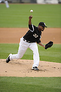 CHICAGO - JUNE 04:  Edwin Jackson #33 of the Chicago White Sox pitches against the Detroit Tigers on June 4, 2011 at U.S. Cellular Field in Chicago, Illinois.  The Tigers defeated the White Sox 4-2.  (Photo by Ron Vesely)  Subject:   Edwin Jackson.