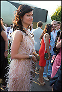 EVA LANSKA; , 2014 Serpentine's summer party sponsored by Brioni.with a pavilion designed this year by Chilean architect Smiljan Radic  Kensington Gdns. London. 1July 2014