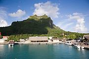 Vaitape, Mt. Otemanu, Bora Bora, French Polynesia<br />