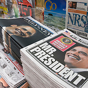 Newspapers Announcing Barack Obama's Historic Presidential Win in 2008