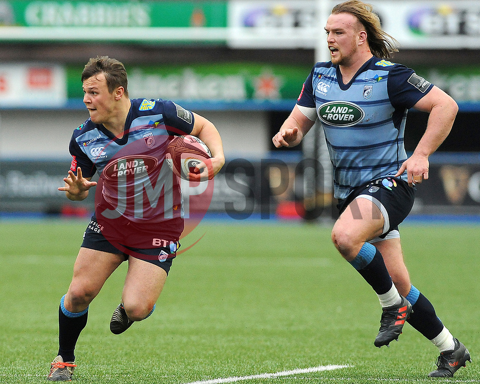 Jarrod Evans of Cardiff Blues in action - Mandatory by-line: Nizaam Jones/JMP- 24/03/2018 - RUGBY - BT Sport Cardiff Arms Park- Cardiff, Wales - Cardiff Blues v Ulster Rugby - Guinness Pro 14