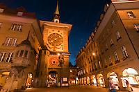 The Clock Tower (Zytglogge), Bern, Canton Bern, Switzerland