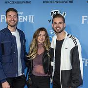 NLD/Amsterdam/20191116 - Filmpremiere Frozen II, Rutger Vink met partner en Dionne Slagter