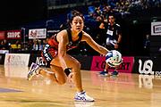 Erikana Pedersen of the Tactix during the ANZ Netball Premiership match, Tactix v Magic, Horncastle Arena, Christchurch, New Zealand, 23rd April 2017.Copyright photo: John Davidson / www.photosport.nz