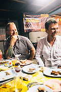 David Thopson and Andy Ricker at Laab//larb Northern Thai restaurant, Chiang Mai
